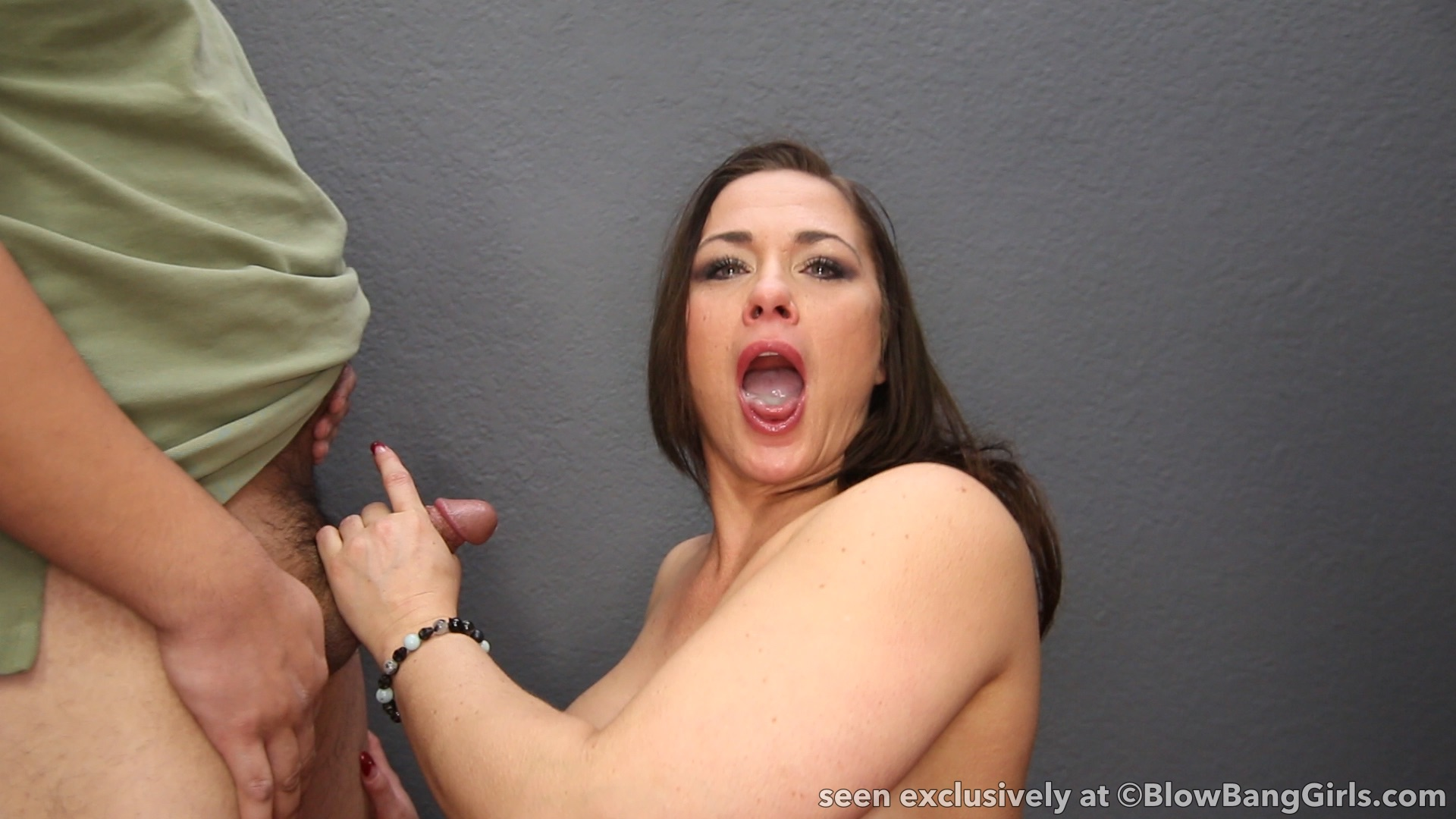 Brunette Lucy Doll Spread Pussy And Takes Facial Cumshot